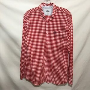 Lacoste s/s checked sport shirt. Sz40